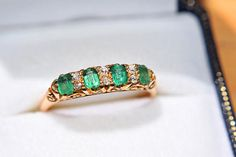 Hey, I found this really awesome Etsy listing at https://www.etsy.com/uk/listing/464179675/1930s-18ct-emerald-diamond-ring