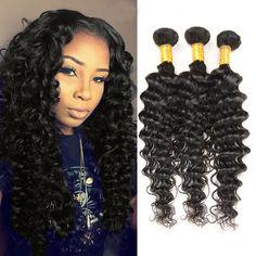 Peruvian Curly Virgin Hair Weave 3 Bundles Human Hair Extension 100%Unprocessed #Unbranded #WaveBundle