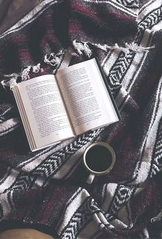 A good book and a warm drink. Mhm, perfection. -