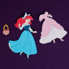 This Ariel paper doll can go from land to sea and back again. Dress her for a walk along the beach or an ocean adventure! ...