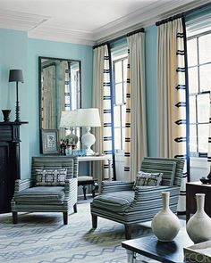 Window Treatment Ideas - Designer Curtains and Shades - ELLE DECOR #window #treatment #ideas