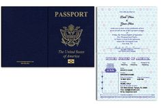 Passport Cover and Pages 1 & 2 Passport Form, Passport Template, Id Card Template, Passport Cover, Passport Wedding Invitations, Usa Party, Invitation Text, Web Address, Response Cards