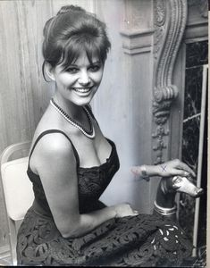 """Original description on verso (excerpt): """"Claudia Cardinale To Meet The Queen At Royal. Claudia Cardinale, Classic Actresses, Beautiful Actresses, Actors & Actresses, Italian Women, Italian Beauty, Hollywood Glamour, Classic Hollywood, Divas"""