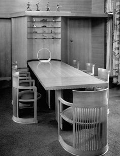 Interior of Frank Lloyd Wright house in Milwaukee, Wisconsin, 1946.