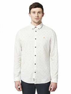 THE MALDON SLIM FIT PATTERN SHIRT