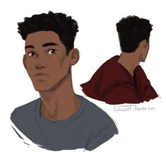 "linneart: """"Cute Bram Greenfeld, of the soft eyes and soccer calves"" "" Character Drawing, Character Concept, Concept Art, Black Anime Characters, Fantasy Characters, Love Simon, Amor Simon, Art Reference Poses, People Art"