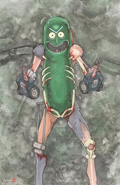 Rick and Morty Pickle Rick by ChrisOzFulton.deviantart.com on @DeviantArt