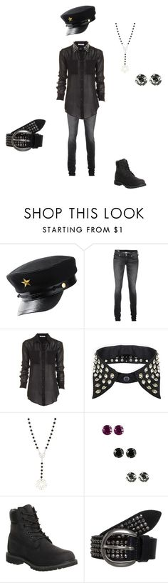 """""""Untitled #345"""" by annafrye ❤ liked on Polyvore featuring H&M, True Religion, T By Alexander Wang, BKE, Timberland and Vanzetti"""