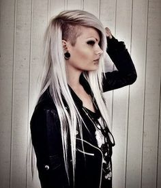 Best Dazzling Half Shaved Hairstyles side-shave-hairstyle