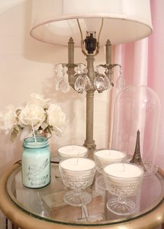 soy candles - blue mason jar....brooke what if we made candles in some of the jars??
