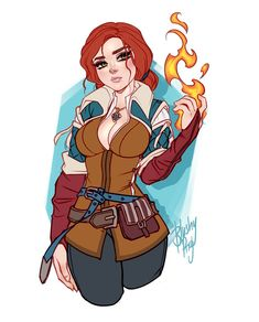 Triss Merigold by Blushy-Pixy on DeviantArt Female Character Design, Game Character, Character Concept, Witcher Triss, Witcher Art, The Witcher Wild Hunt, The Witcher 3, The Legend Of Zelda, Cartoon Drawings