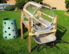 selbst gebautes kompost trommelsieb kompost pinterest kompost selbst bauen und werkzeuge. Black Bedroom Furniture Sets. Home Design Ideas