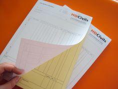 NCR Duplicate pads printed for HD Civils