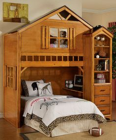 Really cool bunk bed, the girls will be sharing a room one day how cool would it be to have this!