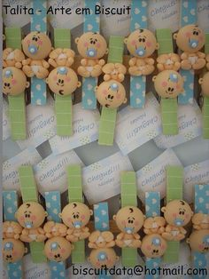 Ideas For Baby Shower Distintivos Manualidades Distintivos Baby Shower, Shower Bebe, Baby Shower Favors, Baby Shower Gifts, Baby Crafts, Felt Crafts, Diy And Crafts, Clay Projects, Projects To Try
