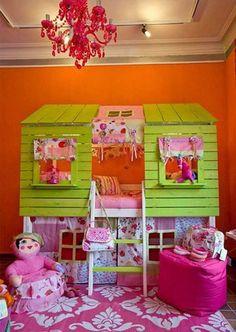 Little girls dream room! Little Girl Rooms, Little Girls, Dream Rooms, Cool Rooms, Kid Spaces, Girls Bedroom, Bedroom Ideas, Bedroom Designs, Kid Bedrooms