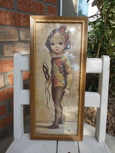 Vintage Maio Big Eyed Ballet Picture by CherryPickins on Etsy, $12.50