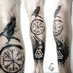 5 Ideas of Odin's Tattoos for Odin Worshippers Odin was among the most powerful and influential gods to the Vikings. There were many reasons why the Vikings worshipped Odin. In this day and age, Odin Norse Mythology Tattoo, Norse Tattoo, Celtic Tattoos, Leg Tattoos, Body Art Tattoos, Tattoos For Guys, Tattoos For Women, Sleeve Tattoos, Tattoo Symbols