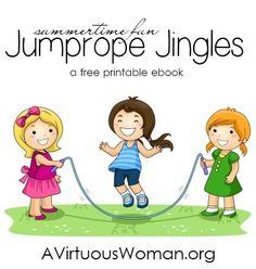 Jump Rope Jingles {Free Printable Booklet} | A Virtuous Woman #summerfun #printabls