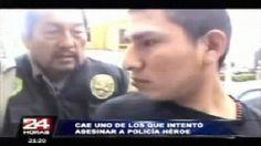 Cae uno de los delincuentes que baleó a policía en Ate Vitarte