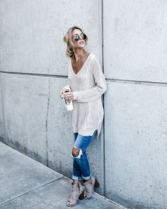 City Girl Cable Knit Sweater