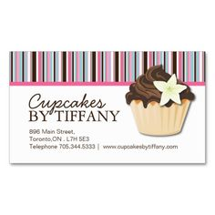 Cute pink and green bakery business card custom business cards cute pink and green bakery business card custom business cards pinterest bakery business bakery business cards and bakeries reheart Choice Image