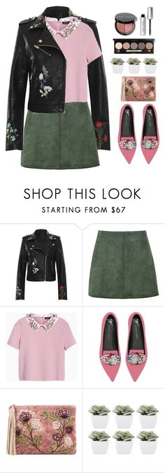 """Top Fashion Set 31/10-wild with a Side of sweet"" by elisabetta-negro ❤ liked on Polyvore featuring WearAll, George J. Love, Max&Co., Giuseppe Zanotti, Sam Edelman, Abigail Ahern, Bobbi Brown Cosmetics and leatherjacket"