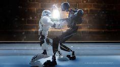 "https://flic.kr/p/21cco3s | It's Mine | Storm Trooper: ""Let go. It's my Idea!""  K-2SO: ""No it's not. It's my Idea!"""