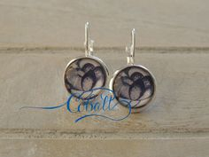 Cobalt China Blue Lotus drop earrings