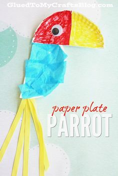 Colorful, customizable and pretty much the ONLY rainforest themed craft you should do with your child TODAY!!! This Paper Plate Parrot kid…