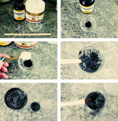 Make your own mascara or eye liner with two ingredients.
