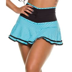 SHORT SAIA  PIN UP POA AZUL / PRETO