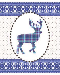 8x10 Print Deer Silhouette