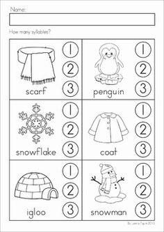 Spring Fling: Kindergarten Math & Literacy Printables   Syllable ...
