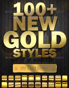 Photoshop Gold Style Collection | PSDDude
