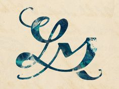 Monogram designed by Leah McLaughlin. http://www.leahmclaughlin.com.au/