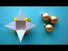 Sterne - Schachtel basteln - Origami Geschenk-Box für Weihnachten falten - Ideen - YouTube