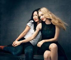 How beautiful!!  Amanda Seyfried & Jenny Cho   New York City, NY   The Hollywood Reporter  Photo by Miller Mobley