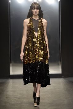 Paillettes were the preferred embellishment for spring, as flashy and glitzy numbers illuminated the runways.