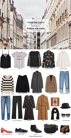 What to Pack for Paris, France Packing Light List   What to France   Packing Light   Packing List   Travel Light   Travel Wardrobe   Travel Capsule   Capsule  
