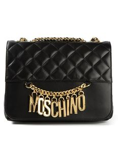 Shop Moschino logo shoulder bag in Stefania Mode from the world's best independent boutiques at farfetch.com. Over 1000 designers from 60 boutiques in one website.