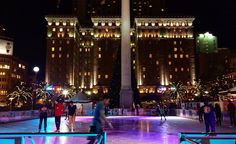 It's still warm in #SF but the ice-skating ring looks like a great place to be tonight 😊👍😎 #fall #StillMild #NightOut #SanFrancisco #UnionSquare