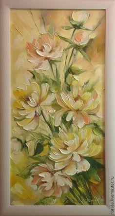 Купить Цветы - разноцветный, картина, картина в подарок, картина для интерьера, картина маслом, цветы