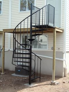 Captivating Exterior Spiral Staircase U0026 Installation Included