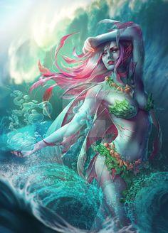 "Merfolk by Tira-Owl on DeviantArt Custom token for the trading card game ""Magic the Gathering"". Fantasy Women, Dark Fantasy, Fantasy Character Design, Character Art, Fantasy Creatures, Mythical Creatures, Mermaids And Mermen, Merfolk, Fantasy Warrior"