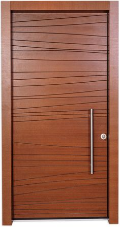 Shdema Door is designed using a simple free line engraved in a veneer board. The door is based on a common classic design using a horizontal engraving creating a look of wide boards. In Shdema, these lines engrave the board in wavy movements creating the unusual characteristic of the door