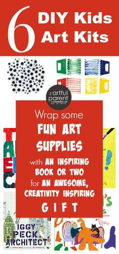 6 DIY Kids Art Kits to make as gifts