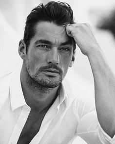 David Gandy looks simply beautiful in this lovely black and white outtake from the October 2016 issue of GLAMOUR UK. Photo by Adriano Russo; grooming Larry King; styling Dominique Temple.