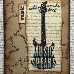 Music Speaks | Visible Image - vintage card - music stamps - Corrie Heririman