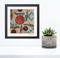 Acrylmalerei - Acrylbild auf Papier **Farbmix Serie 5** - ein Designerstück von SoMa-Art bei DaWanda